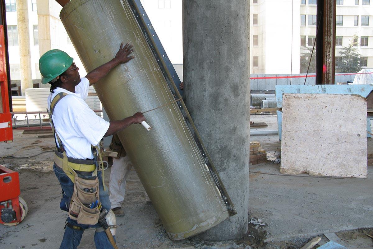 MFG Fiberglass One Piece Column Concrete Forms Form Tech