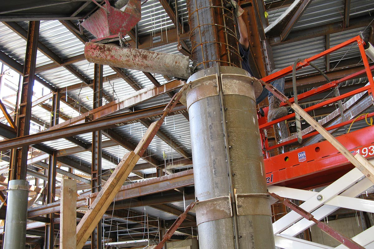MFG Fiberglass One Piece Column Concrete Forms Form Tech